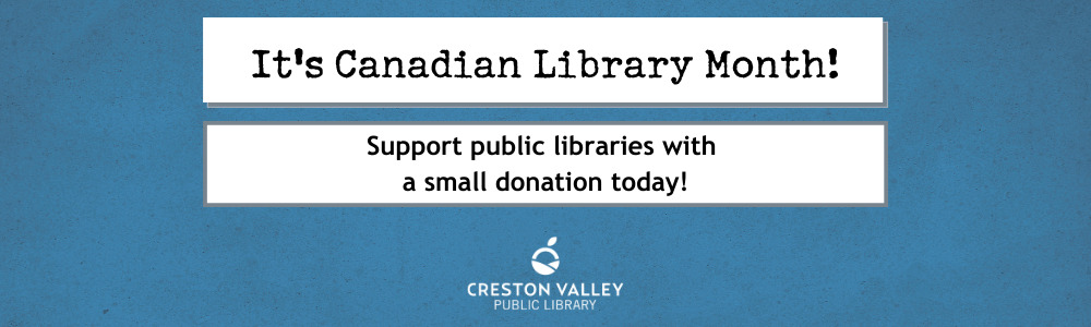 Canadian Library Month donation slide